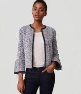 LOFT Knit Tweed Bell Sleeve Jacket