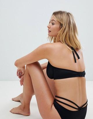 Pour Moi? Pour Moi Fuller Bust Beachbound underwire halter bikini top B-G cup in black