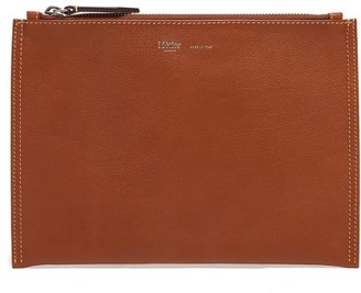 Metier - Flat Small Leather Pouch - Brown