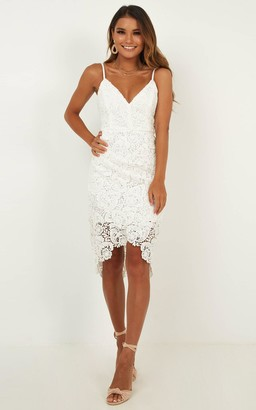Showpo Typical Lover dress in white lace - 6 (XS) Engagement Dresses