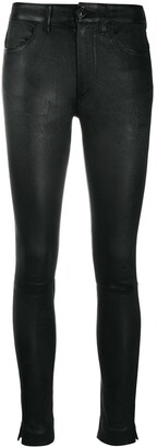 Dondup Leather Skinny-Fit Trousers