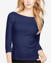 Lauren Ralph Lauren Pointelle-Trim Top