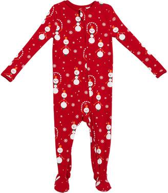 Bedhead Pajamas Juggling Snowman Printed Footie Family Pajamas, Size 2-18 Months