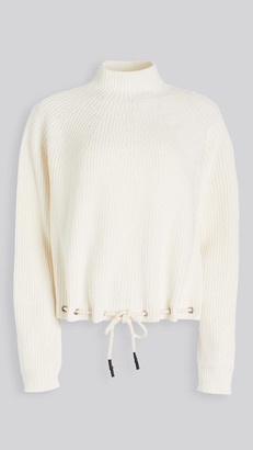 Bassike Drawstring Hem Cotton Knit