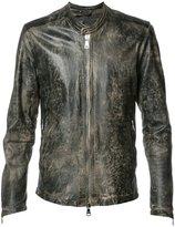 Giorgio Brato zipped jacket - men - Nylon/Leather - 48