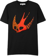 Mcq Alexander Mcqueen Black Swallow-appliquéd T-shirt
