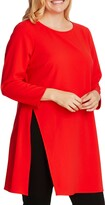 Vince Camuto Long Sleeve Side Slit Crepe Tunic