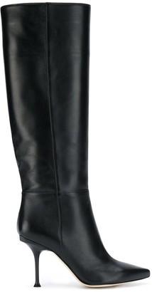 Sergio Rossi Knee-High Stiletto Boots