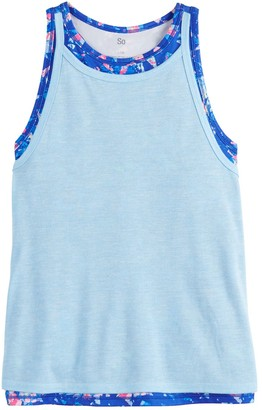 So Girls 4-20 Double Layer Tank
