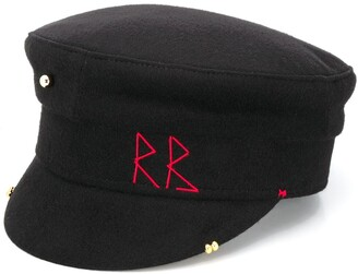 Ruslan Baginskiy Embroidered Wool Baker Boy Hat
