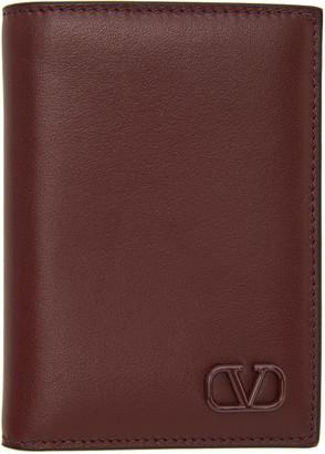Valentino Red Garavani VLogo Bifold Card Holder