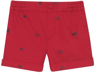 Gucci Red Shorts With Elastic Waistband