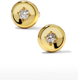 Roberto Coin 18k White Gold Diamond Round Stud Earrings