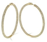 Gottex 18k Plated Crystal Hoops.