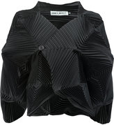 Issey Miyake pleated structured shirt - women - Polyester/Polyurethane - 2