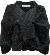 Issey Miyake pleated structured shirt - women - Polyester/Polyurethane - 2