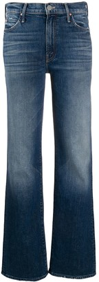 Mother Mid Rise Flared Jeans