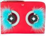 Fendi Flame Water clutch - women - Calf Leather/Fox Fur - One Size