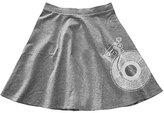Urban Smalls Gray Record Circle Skirt - Toddler & Girls