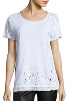 RtA Isabelle Distressed Silk-Lined Tee