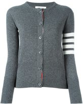 Thom Browne 4-bar stripe cardigan - women - Cashmere - 38