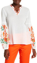 Natori Embroidered Blouse
