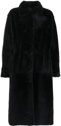 Liska Reversible Shearling Overcoat
