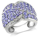 Catherine Malandrino Tanzanite And Diamond Accent Pave Ring.