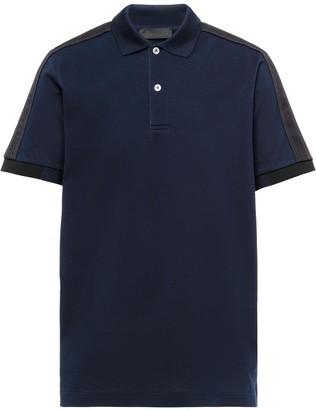 Prada Contrast-Trim Polo Shirt