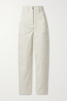 TRE by Natalie Ratabesi The Lynne Cotton-blend Twill Skinny Pants - Off-white