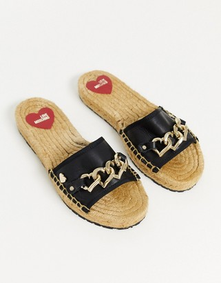 Love Moschino chain espadrilles in black