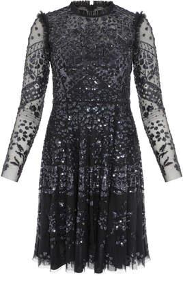 Needle & Thread Aurora Sequin-Embellished Tulle Mini Dress