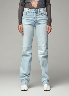 Our Legacy Women's Extended Linear Cut Jean in Super Light Wash Size 26 100% Cotton