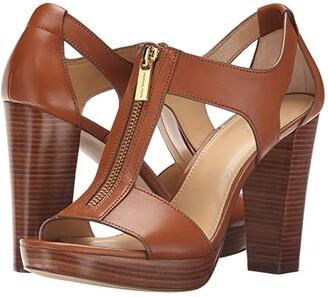 MICHAEL Michael Kors Berkley Sandal (Black Vachetta) Women's Dress Sandals