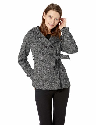 Yoki Women's Double Breast Fleece Jacket Outerwear