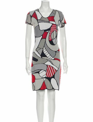 Alexander McQueen Printed Knee-Length Dress Red