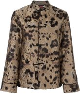 F.R.S For Restless Sleepers leopard print quilted suit