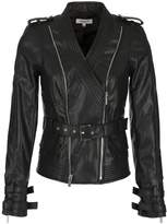 Morgan Zippered Faux Leather Jacket