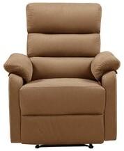 Latitude Run Borislava Manual Recliner with Massage and Heating Fabric: Brown