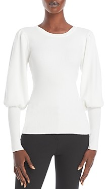 Milly Ribbed Balloon Sleeve Top