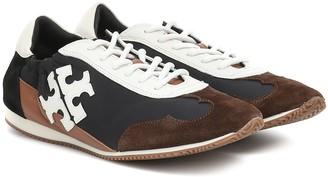 Tory Burch Vintage suede-trimmed sneakers