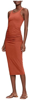 Michael Stars Racerback Dress w/ Shirring (Black) Women's Dress