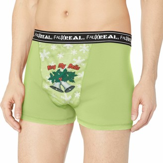 Faux Real Sublimated Mens Christmas Underwear
