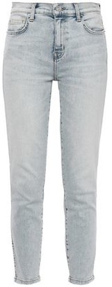 Current/Elliott The Southside Distressed High-rise Skinny Jeans