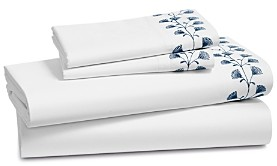 Sky Floral Embroidered Sheet Set, King - 100% Exclusive