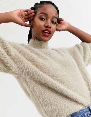 Asos DESIGN fluffy oversized jumper