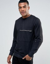 Diesel S-ACHILLE Washed Out Sweater Zip Pocket