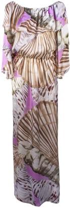 Blumarine Pink Silk Print Dress