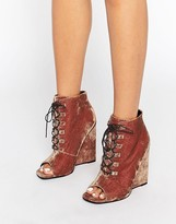 Asos ELIS Lace Up Wedge Boots
