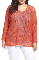 Nic+Zoe Plus Size Women's Sun Catcher Knit Top